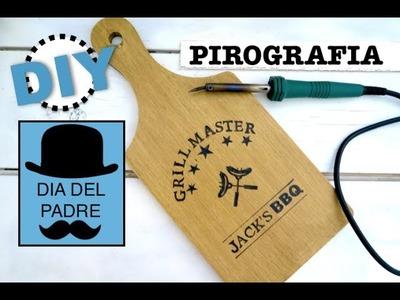 DIY REGALO PEFECTO PARA EL DIA DEL PADRE | DIBUJAR EN MADERA | PIROGRAFIA NIVEL PRINCIPIANTES