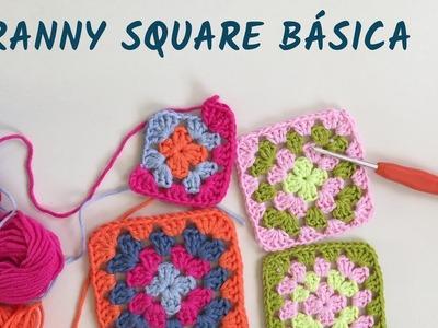 Granny square básica en varios colores - Crochet