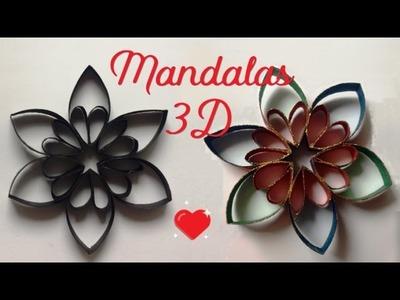 Mandalas 3D  - Para cuadros o guirnaldas - Mis Chipi Tips