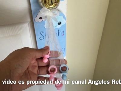 Manualidad: Como hacer una decoración para la puerta de la habitación con materiales reciclados