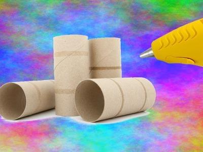 MANUALIDADES FÁCILES PARA HACER EN CASA: Servilleteros DIY con tubo de papel de cocina