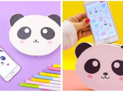Manualidades FACILES recicladas, ideas creativas-soporte para teléfono kawaii