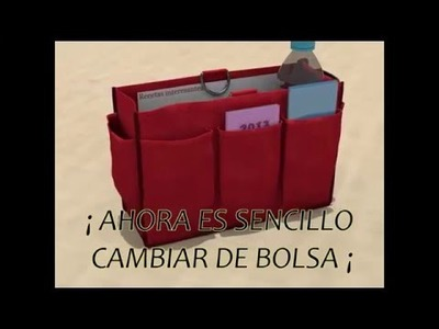Organizador de bolsa PAOPACK color rojo