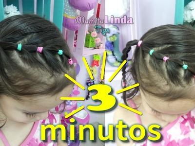 PEINADO EN 3 MINUTOS PARA NIÑA | MAMITA LINDA TIPS