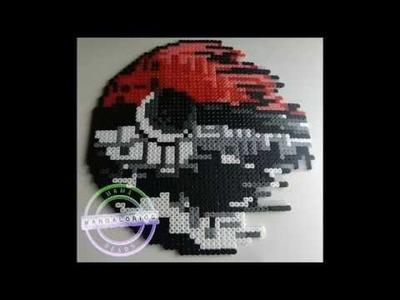 Pokeball de la muerte Hama Beads Midi HD