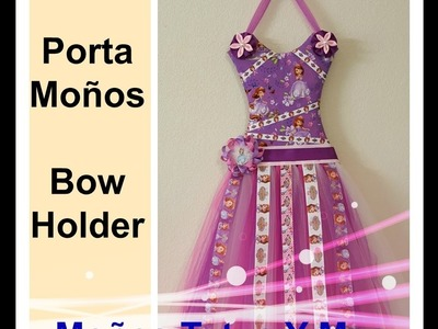 PORTA MOÑOS TUTU PARTE 1 Paso a Paso TUTU HAIR BOW HOLDER PART 1 Tutorial PAP How To DIY Video 162