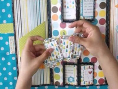Tarjeta de cumpleaños acordeón idea.inspiración. cardmaking