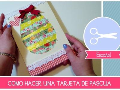 Tarjeta de Pascua manualidad facil by Fantasvale - Ideas creativas