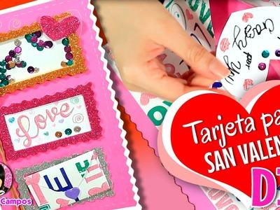 Tarjeta para San Valentín, Tarjeta para regalar el 14 de febrero por DIY con Marlene Campos