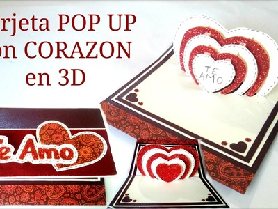 Tarjeta pop up, corazón 3D | regalo perfecto para san valentin