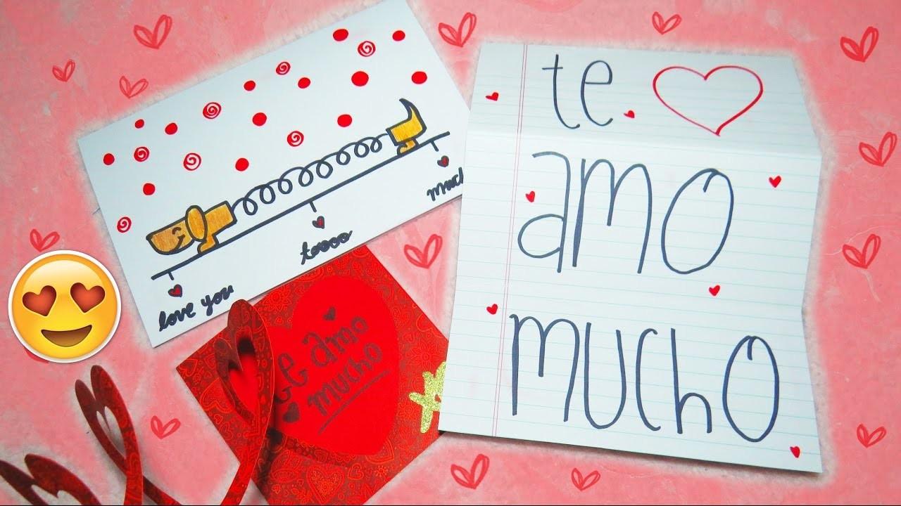 Tarjetas super fáciles para san valentin , pop up , expandible (14 de febrero )♥ ♥ ♥  Mariana lugo