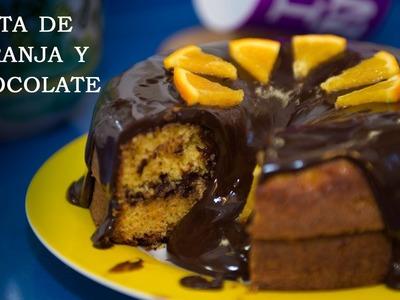 Tarta de Naranja y Chocolate Facil y Riquisima
