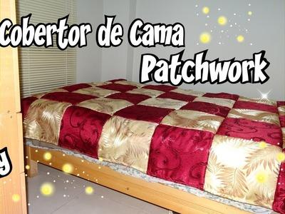 Tutorial Como hacer un cobertor para cama estilo Patchwork Costura