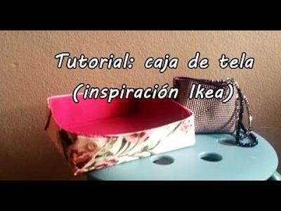 #Tutorial: coser una caja de tela (inspiración Ikea. Ikea hack)
