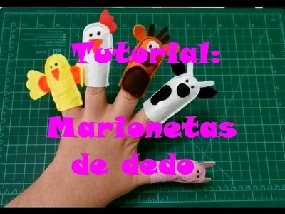 Tutorial: Marionetas de dedo - Libro Sensorial.Quiet Book