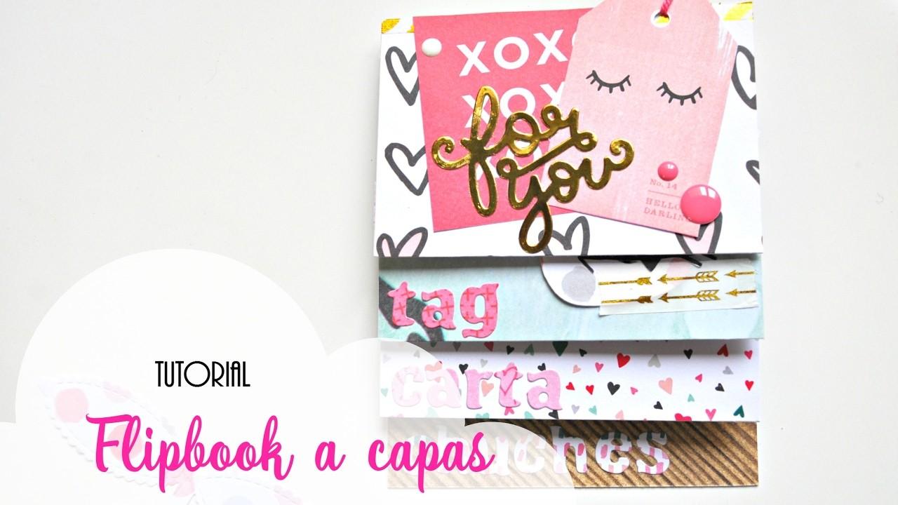 Tutorial snail mail romántico | Flipbook a capas | Flipbook with layers | Scrapeando con Rocío