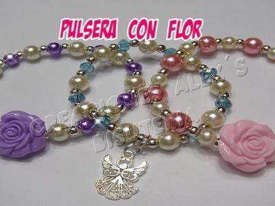 Bisuteria Pulsera con Flor . . . . . . .((30))