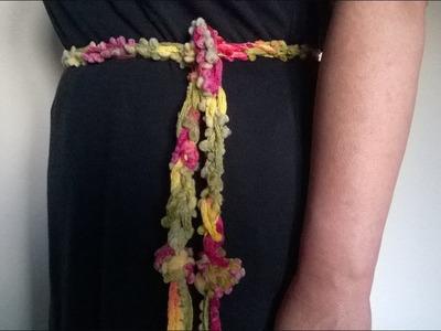 """Cinturón """"Mil Colores"""" (Tejido con las manos)"""