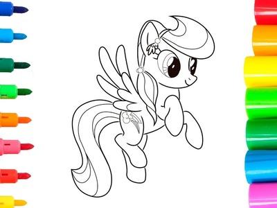 Colorear a Rainbow Dash de My little Pony | Colorear y dibujar con rotuladores