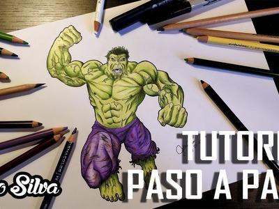 COMO DIBUJAR A HULK - TUTORIAL PASO A PASO [Julio Silva]