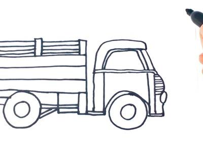 Como dibujar un Camion paso a paso | Dibujo facil de Camion