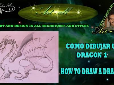 Como dibujar un dragon