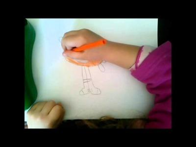 Como dibujar y colorear a Darwin paso a paso POR NIÑA DE 5 AÑOS. Como hacer dibujos para niños