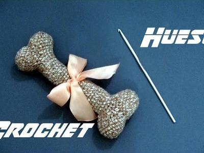 Como hacer un HUESO en tejido #crochet o ganchillo tutorial paso a paso. Moda a Crochet