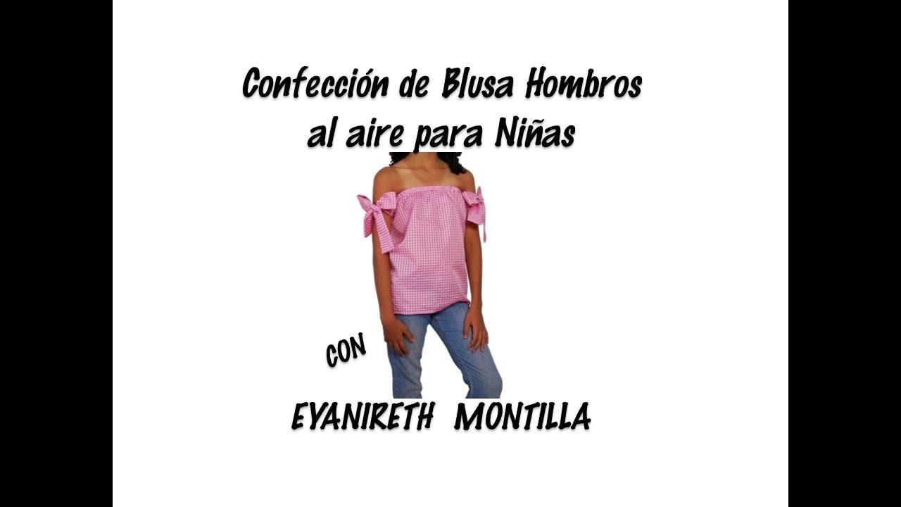 Confección de blusa hombros al aire para niñas