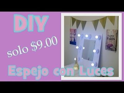 DIY ESPEJO CON LUCES. Fácil, Rápido y Económico