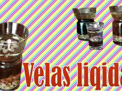 DIY Velas Liquidas. Decoracion. Velas de Aceite