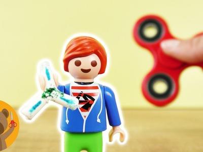 FIDGET SPINNER para Julian Pérez. Playmobil DIY para niños. ¿cómo hacer un Fidget Spinner?