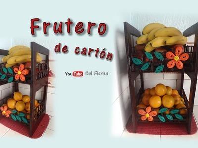 Frutero de cartón - Cardboard fruit bowl