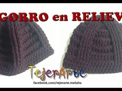 Gorro en Relive (Crochet) Unisex!