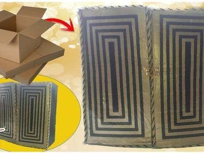 Mueble Organizador De Cartón | DIY Paso a Paso!!