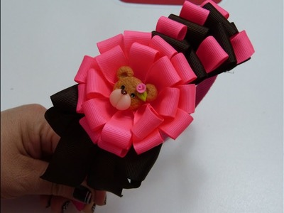 Tutorial de Una bella y Fácil Flor de listón , How to make flowers