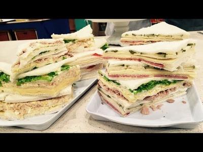Variedad de sándwiches de miga