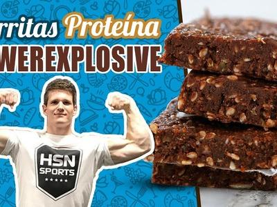 Barritas de proteína Powerexplosive - Barritas de proteínas casera chocolate
