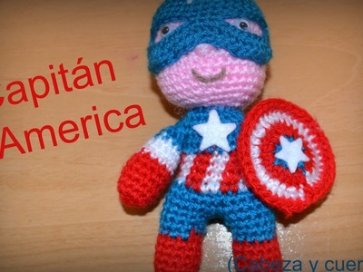 Capitan america (cabeza y cuerpo)    Crochet o ganchillo.