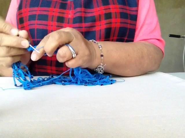 Collar Croché y Cristales de Arroz