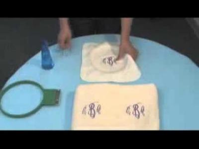 Cómo bordar toallas y tejidos con rizo