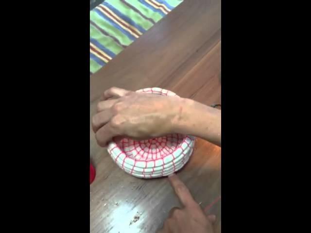 Cómo hacer un canasto con cuerda PARTE I