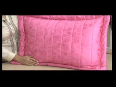 Como hacer un edredón con almohadón en tela acolchada. 5.5