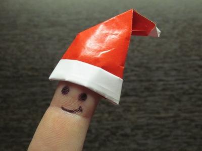 Como hacer un SOMBRERO DE PAPEL adornos navideños   Origamis paso a paso (Muy fácil)