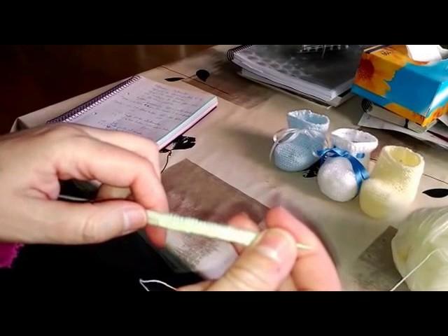 Cómo hacer unos Patucos Tejiendo con dos agujas - Parte 1