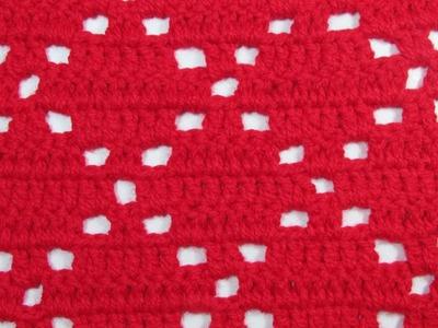 Crochet paso a paso: Punto Rombos - Mi Rincón del Tejido