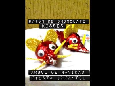 Decoración de Raton  Árbol de Navidad o fiesta infantil de Chocolate kisses fácil económico