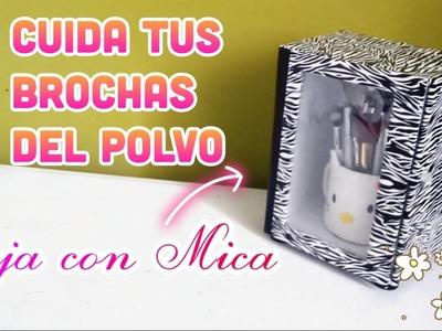 DIY CAJA PROTECTORA  DE BROCHAS