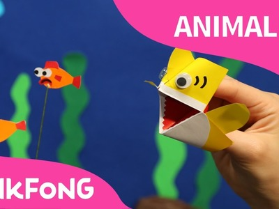 ¡Soy un Títere de Origami del Tiburón Bebé! | Animales | PINKFONG Canciones Infantiles