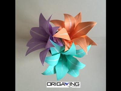 Lirio doble de Origami